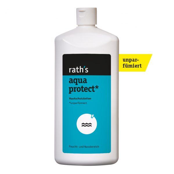 rath's aqua protect unparfümiert Hautschutzlotion - 1 Liter-Flasche