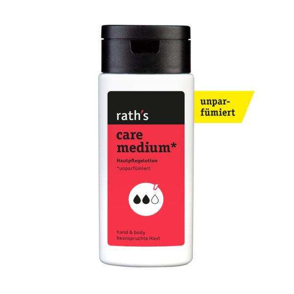 rath's care medium unparfümiert Haupflegelotion - 125 ml-Flasche