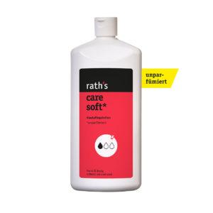 rath's care soft unparfümiert Hautpflegelotion - 1 Liter-Flasche