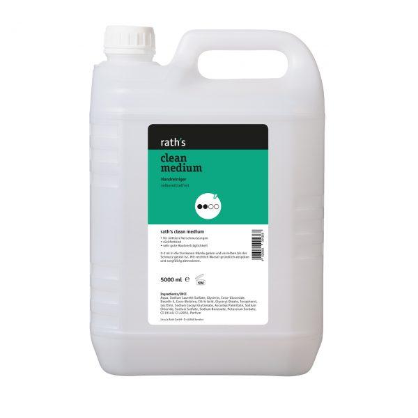 rath's clean medium - reibemittelfreier Handreiniger 5 Liter-Kanister