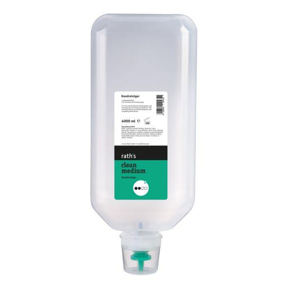 rath's clean medium - reibemittelfreier Handreiniger 4 Liter-Softflasche