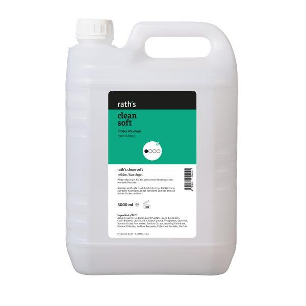 Mildes Waschgel rath's clean soft - 5 Liter-Kanister